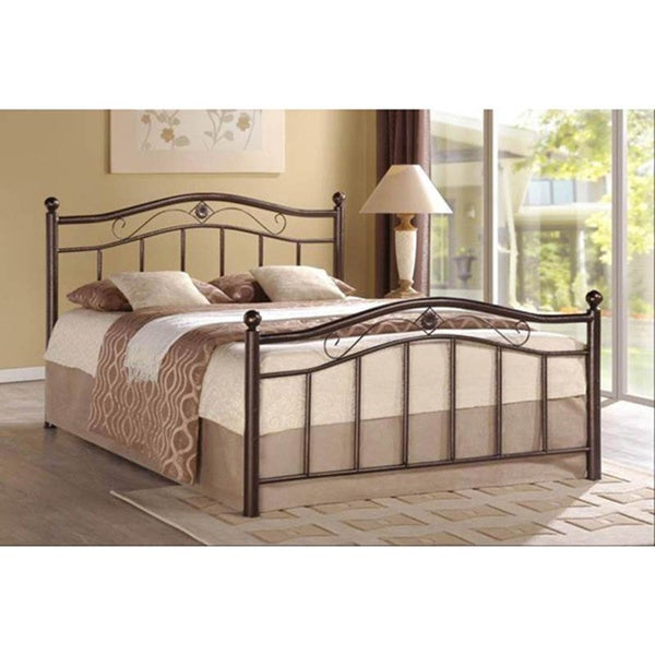 Twin Bronze Full Bronze Queen Bronze Bronze Metal Platform Bed