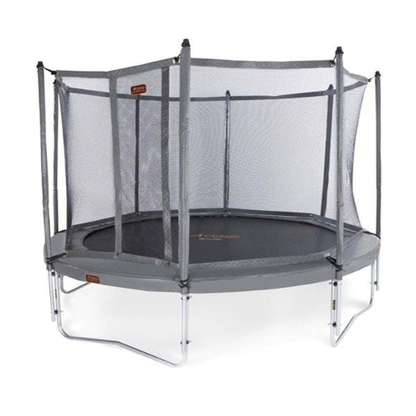 JumpFree Proline 15-foot Titanium Grey Trampoline and Safety Enclosure Net