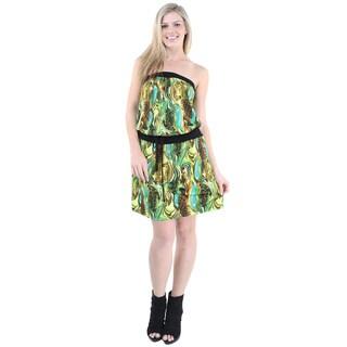 24/7 Comfort Apparel Women's Sleeveless Tube Knee Length Dress