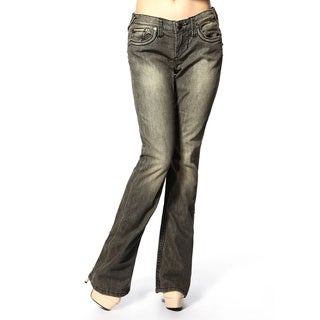 Stitch's Women's Distressed Wash Boot Cut Jeans