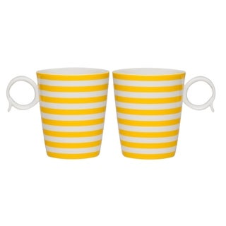 Red Vanilla Freshness Lines Yellow 12-ounce Mug
