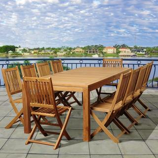 Danielle 11-piece Teak Dining Set