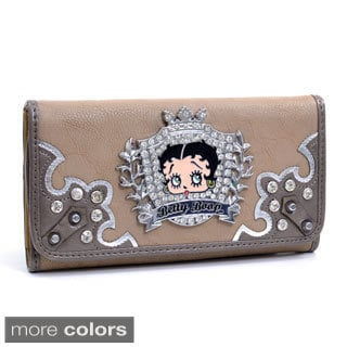 Betty Boop Rhinestone Crest Checkbook Wallet