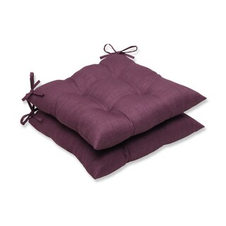 Pillow Perfect Outdoor Purple Wrought Iron Seat Cushion (Set of 2)