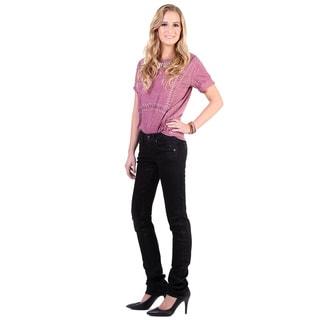 Stitch's Women's Low Rise Curvy Straight Leg Jeans