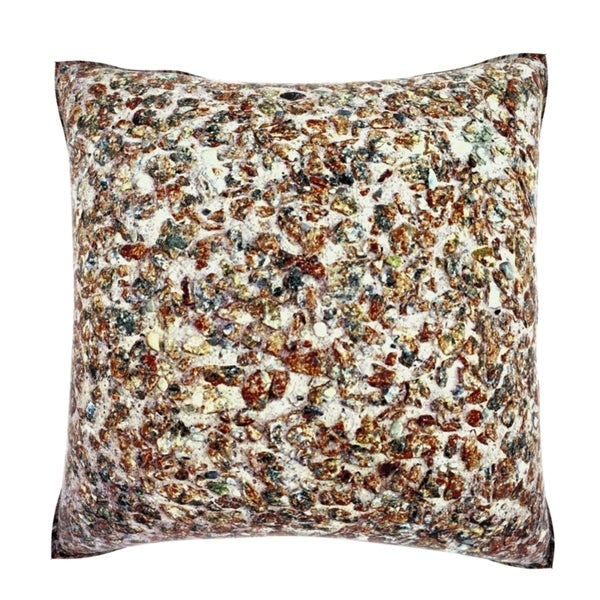 Gravel Concrete Texture 18-inch Velour Throw Pillow