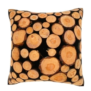 Chopped Stacked Firewood 18-inch Velour Throw Pillow