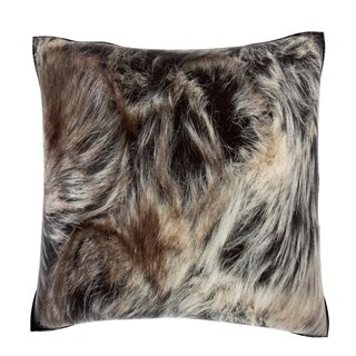 Animal Fur Coat 18-inch Velour Throw Pillow