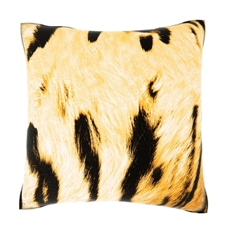 Abstract Tiger Imitation 18-inch Velour Throw Pillow