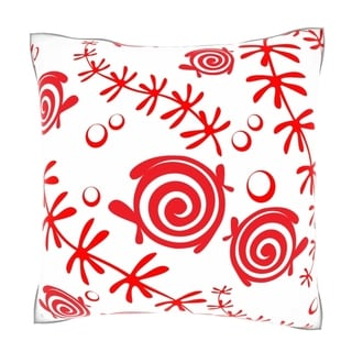 Seamless Ornament Pattern 18-inch Velour Throw Pillow