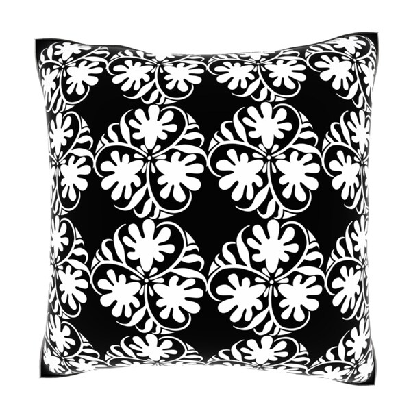 Blossom Ornament Pattern 18-inch Velour Throw Pillow