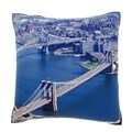 Bridges In New York City 18-inch Velour Throw Pillow