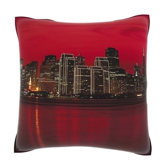 San Francisco City Line At Dusk 18-inch Velour Throw Pillow