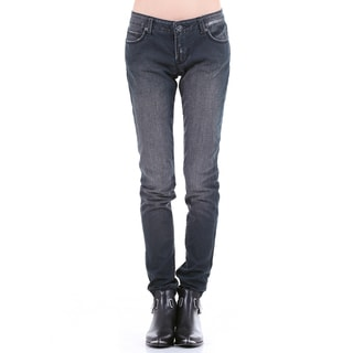 Stitch's Women's Worn Out Vintage Straight Leg Denim Jeans