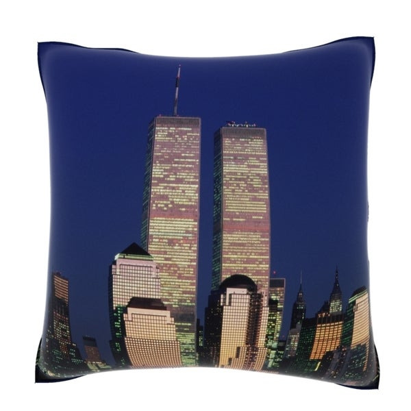 World Trade Center New York City 18-inch Velour Throw Pillow