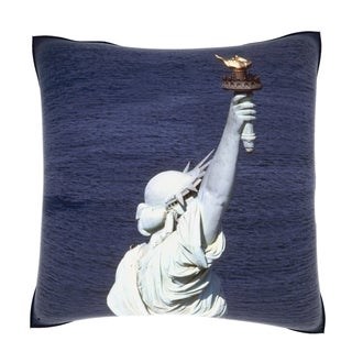 Statue of Liberty New York 18-inch Velour Throw Pillow