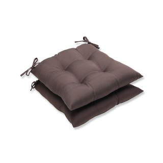 Pillow Perfect Outdoor Brown Wrought Iron Seat Cushion (Set of 2)