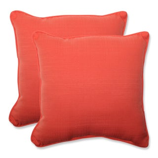 Pillow Perfect Outdoor Coral 18.5-inch Throw Pillow (Set of 2)