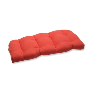 Pillow Perfect Outdoor Coral Wicker Loveseat Cushion