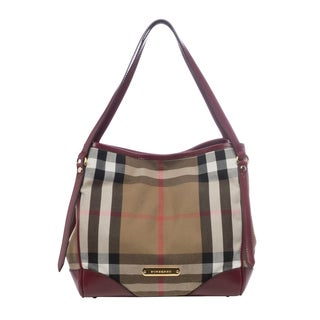 Burberry Small Bridle House Check Tote
