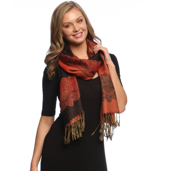 Black/ Red Reversibl Shawl Wrap