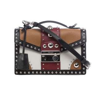 Prada Studded Saffiano Multicolor Crossbody