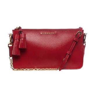 Burberry Patent London Leather Tassel Shoulder Bag