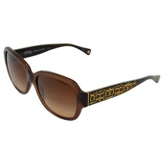 Coach Women's 'Pamela HC8036' Brown Logo-graffiti Sunglasses