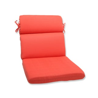 Pillow Perfect Outdoor Coral Rounded Corners Chair Cushion