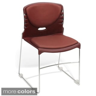 OFM Multiuse Vinyl Seat and Back Stacker Chairs (Set of 4)