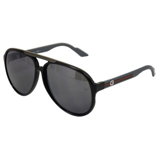 Gucci Unisex '1627/S' Gray Plastic Aviator Sunglasses