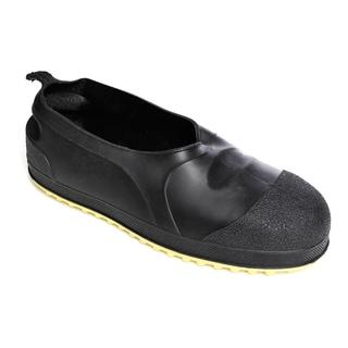 Men's Black Upper Yellow Cleated Steel Toe Overshoe Work Boots