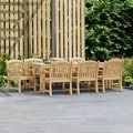 Lola 9-piece Teak Arm Chair Outdoor Dining Set