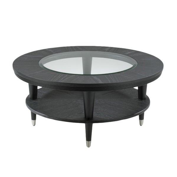 Overton Round Black Cocktail Table