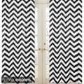 Sweet Jojo Designs Chevron Rod Pocket 84 inch Curtain Panel Pair