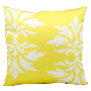 Mina Victory Indoor/ Outdoor Yellow 20-inch Throw Pillow