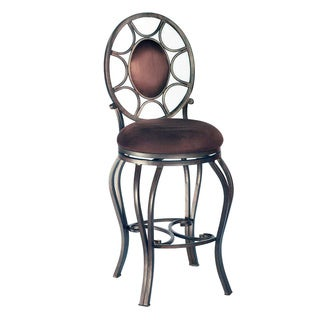 Autumn Rust/ Brown 26-inch Memory Return Swivel Counter Stool