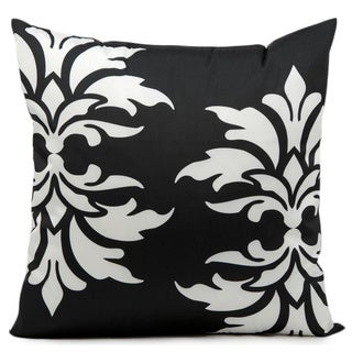 Nourison 'Mina Victory' 20-inch Black Indoor/ Outdoor Throw Pillow