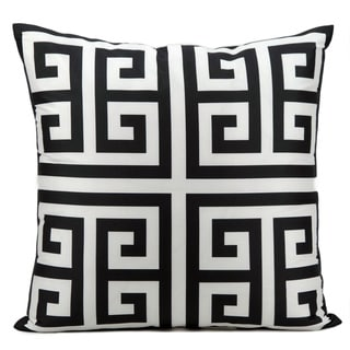 Mina Victory Indoor/ Outdoor Black 20-inch Throw Pillow
