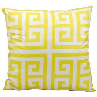 Mina Victory Indoor/ Outdoor Yellow 20-inch Throw Pillow