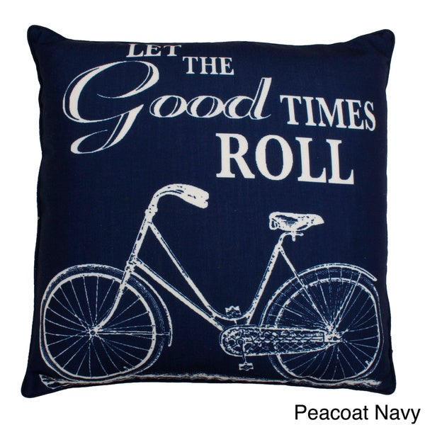Let The Good Times Roll 20-inch Feather Fill Throw Pillow