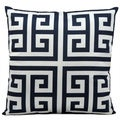 Mina Victory Indoor/ Outdoor Navy 20-inch Throw Pillow
