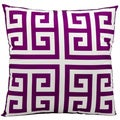 Mina Victory Indoor/Outdoor Greek Key Lilac Throw Pillow (20-inch x 20-inch) by Nourison