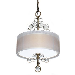 Tricia 3-light Antique Copper Crystal Balls Chandelier