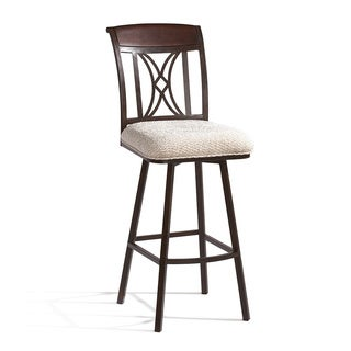 Autumn Rust/ Beige Memory Return Swivel 26-inch Counter Stool