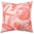 Shell Beach 19-inch  Indoor/Outdoor Throw Pillow