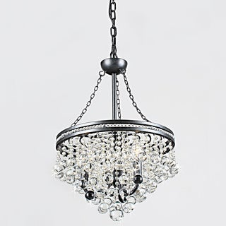 Eleanor 3-light Antique Black Crystal Chandelier