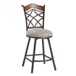 Autumn Rust/ Beige Memory Return Swivel Counter Stool