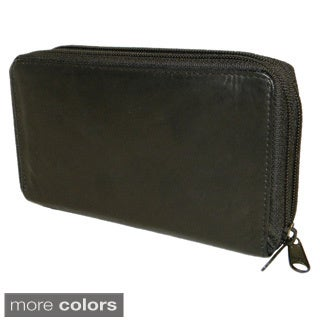 Hollywood Tag Women's Leather Wallet Organizer