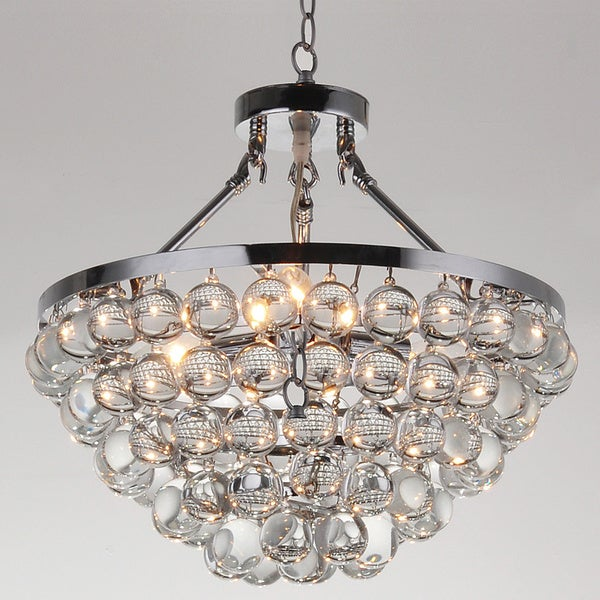Elsa 5-light Chrome/ Crystal Chandelier